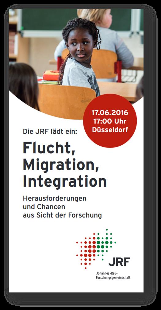Flyer Flucht, Migration, Integration